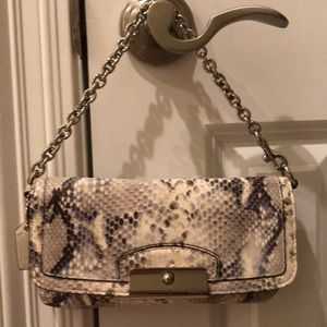 Coach mini handbag with chain strap
